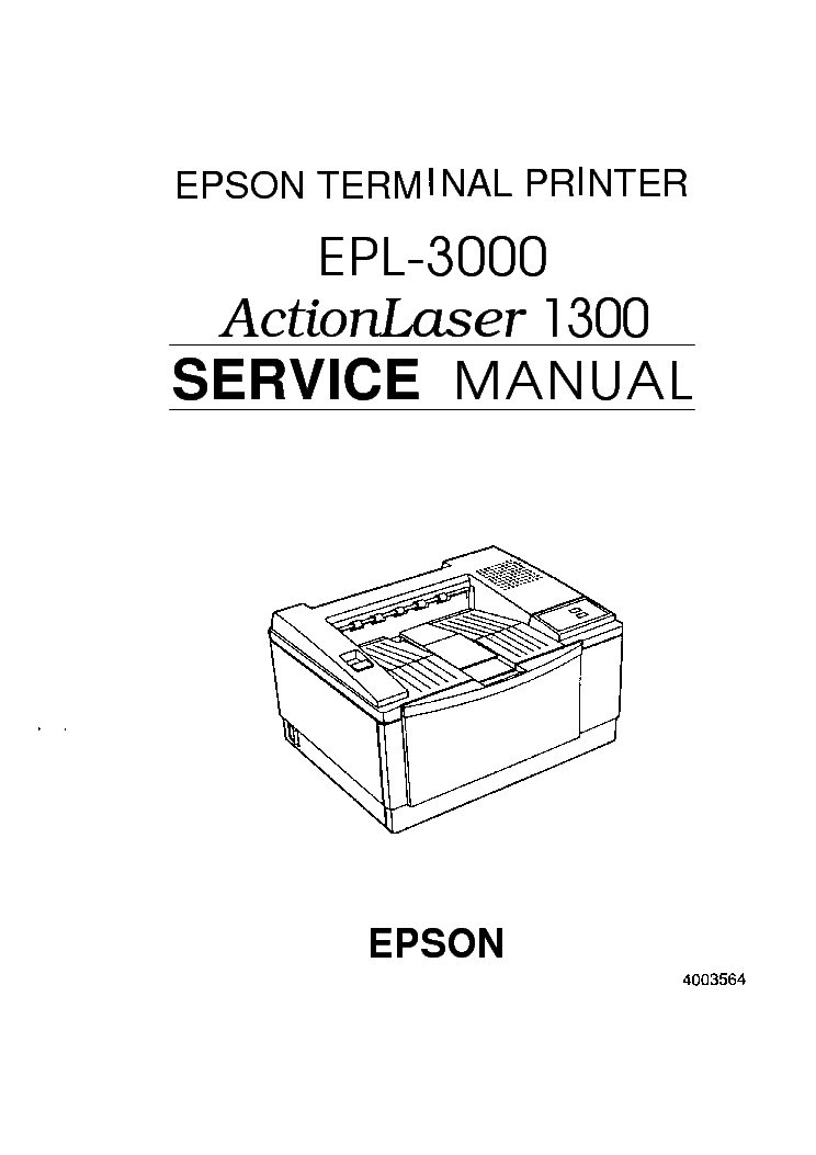 EPSON EPL-3000 SERVICE MANUAL Service Manual download