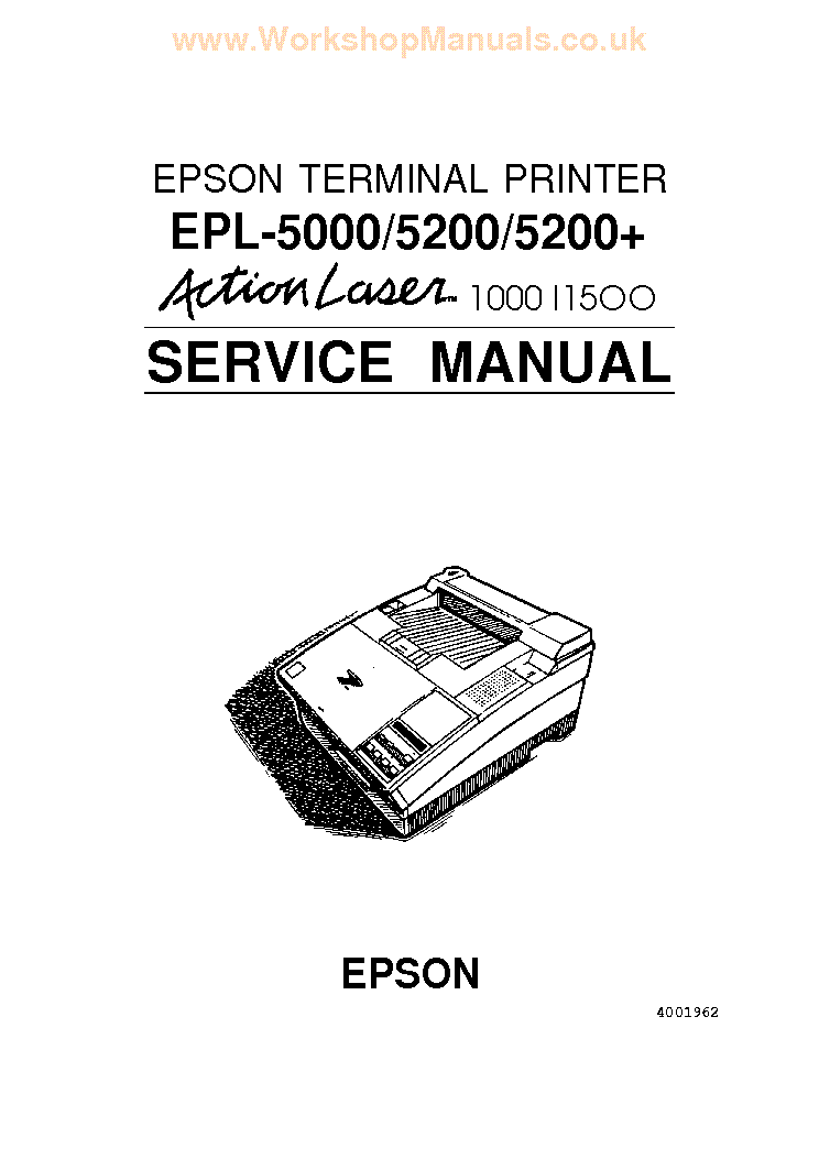 EPSON EPL-5000 5200 5200PLUS Service Manual download