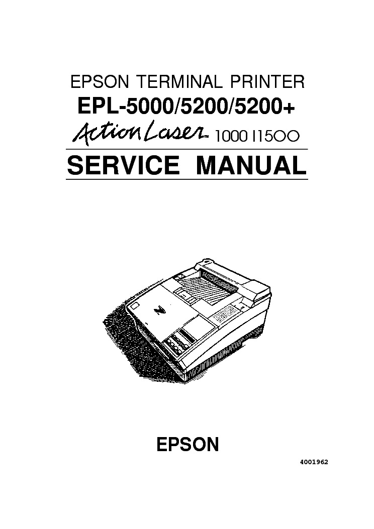 EPSON EPL-5200 SERVICE MANUAL Service Manual download