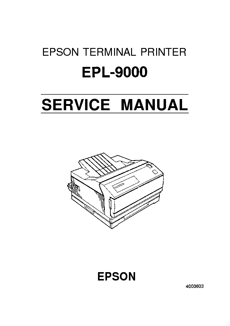 EPSON EPL-9000 SERVICE MANUAL Service Manual download