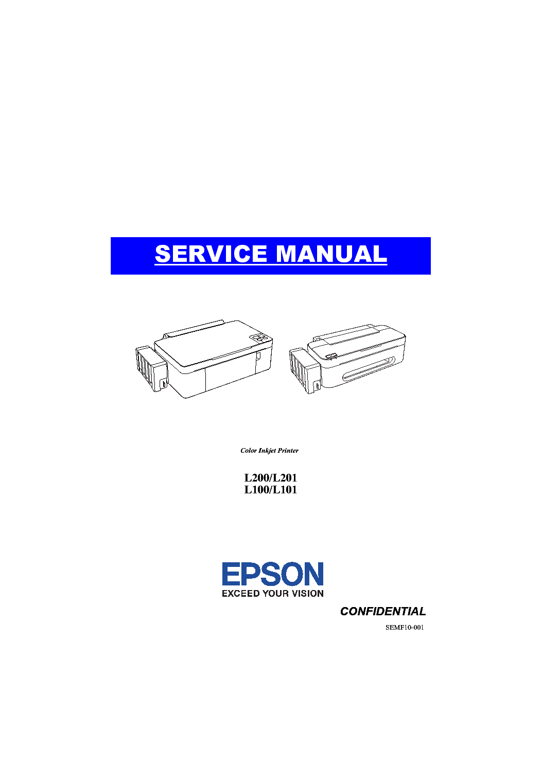 EPSON L200 L100 SERIES SM Service Manual download