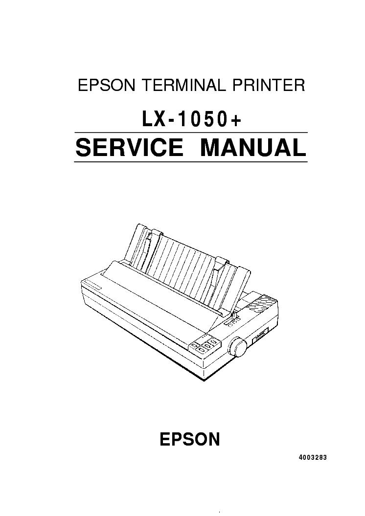 EPSON LX-1050 SM Service Manual download, schematics