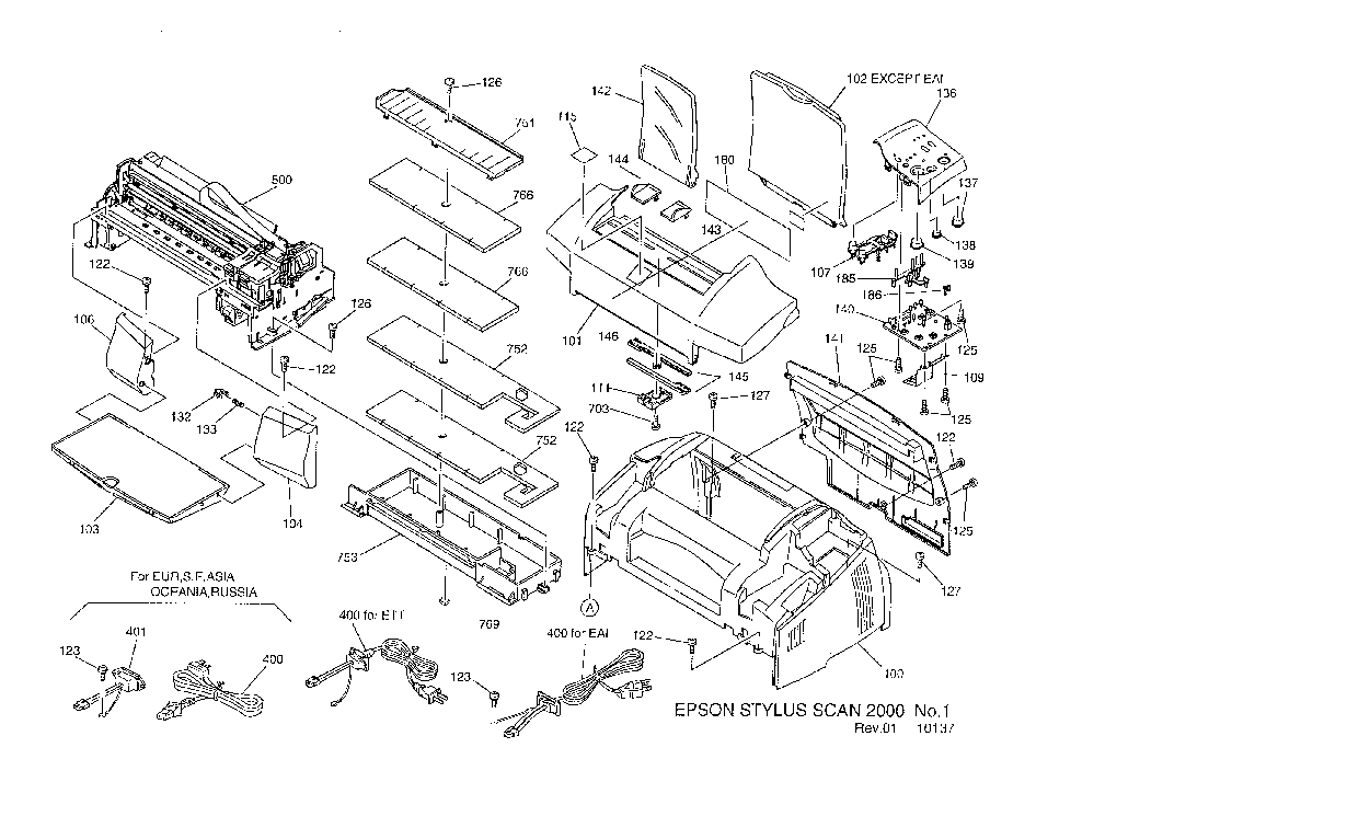 EPSON STYLUS-SCAN-2000 EXPLODED-DIAGRAM Service Manual