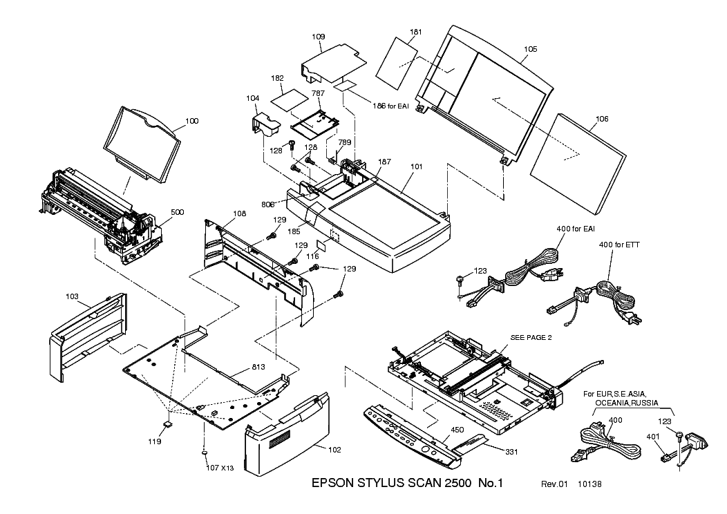 EPSON STYLUS-SCAN-2500 EXPLODED-DIAGRAM Service Manual