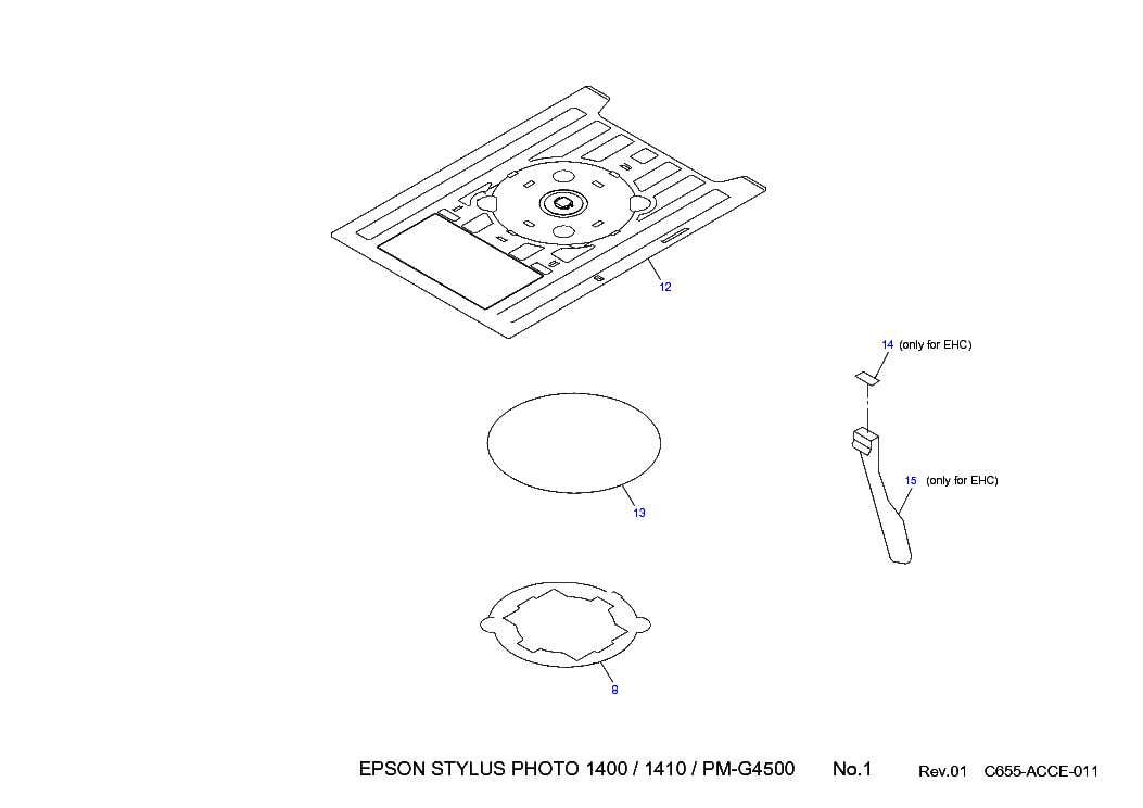 EPSON STYLUS 1400 1410 EXPLODED Service Manual download