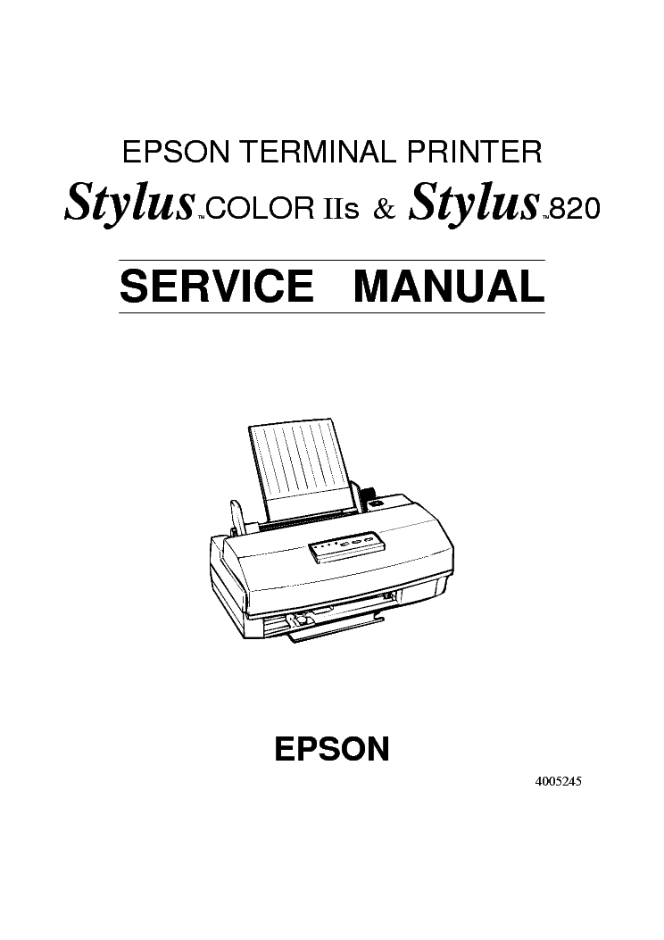 EPSON STYLUS COLOR-2S 820 SM Service Manual download