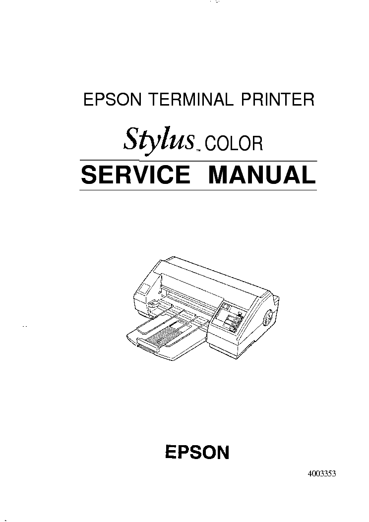 EPSON STYLUS PHOTO 785EPX 825 895 915 Service Manual free