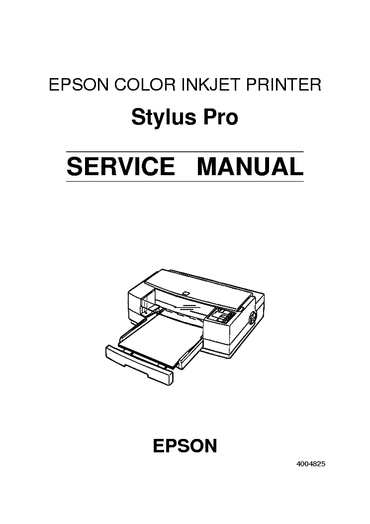 EPSON STYLUS PRO SERVICE MANUAL Service Manual download