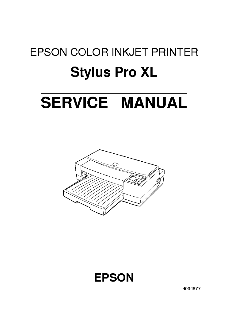 EPSON STYLUS PRO XL SERVICE MANUAL Service Manual download