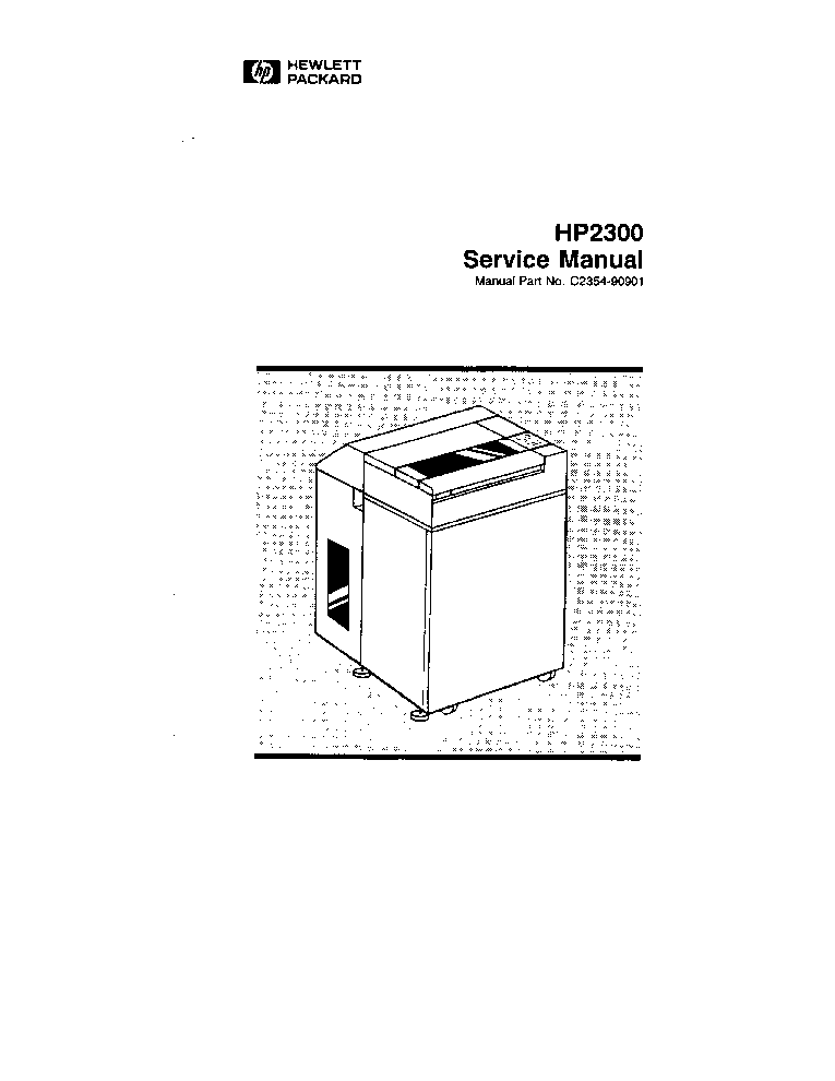 HP 2300 LINE PRINTER SERV MA Service Manual download