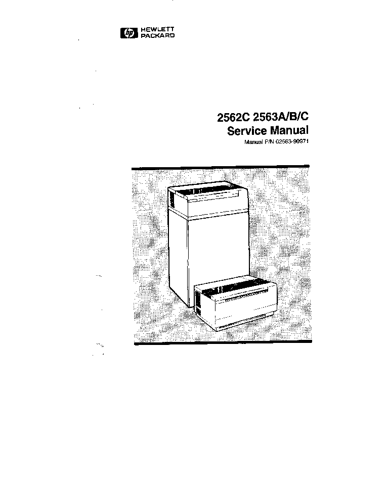 HP 2562 2563 DOT MATRIX PRINTERS Service Manual download