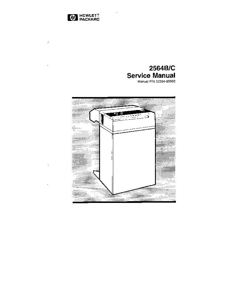 HP 2564 DOT MATRIX PRINTER Service Manual download