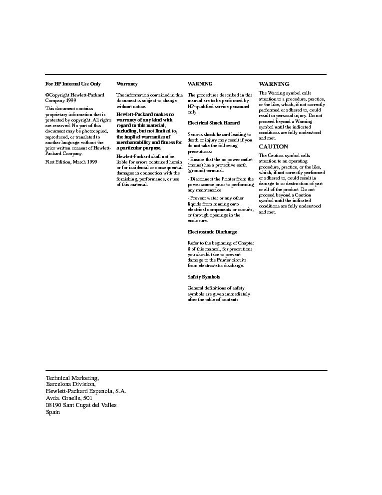 HP DESIGNJET 1050C 1055CM LARGE FORMAT SERVICE MANUAL