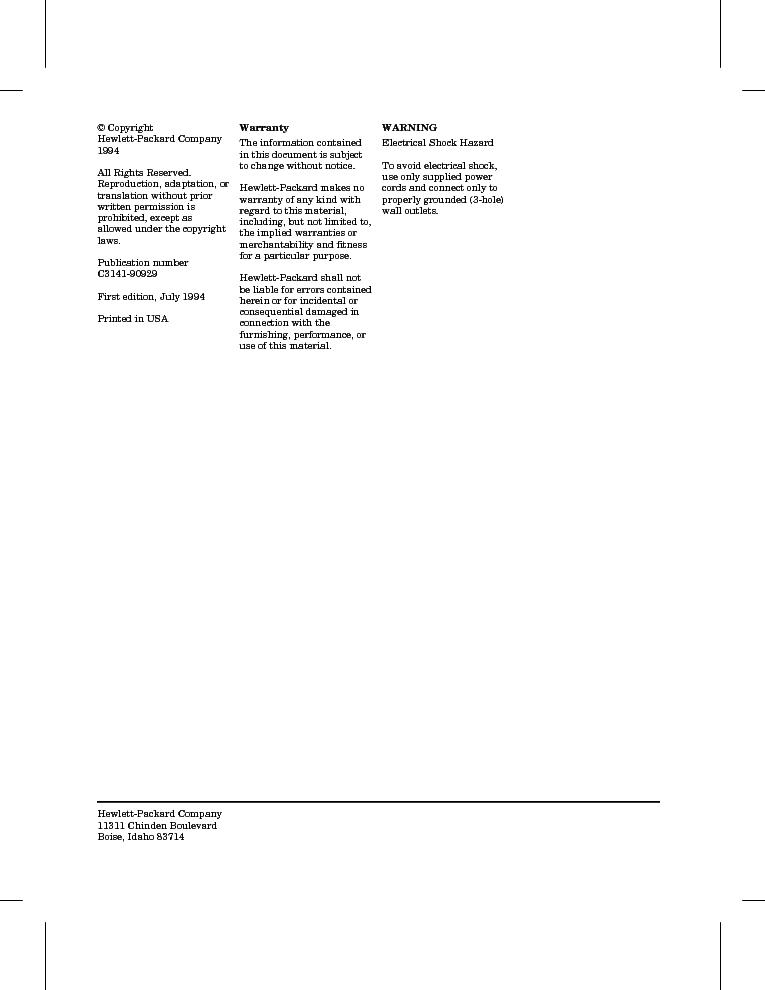 HP LJ4V-4MV SERVICE MANUAL Service Manual download