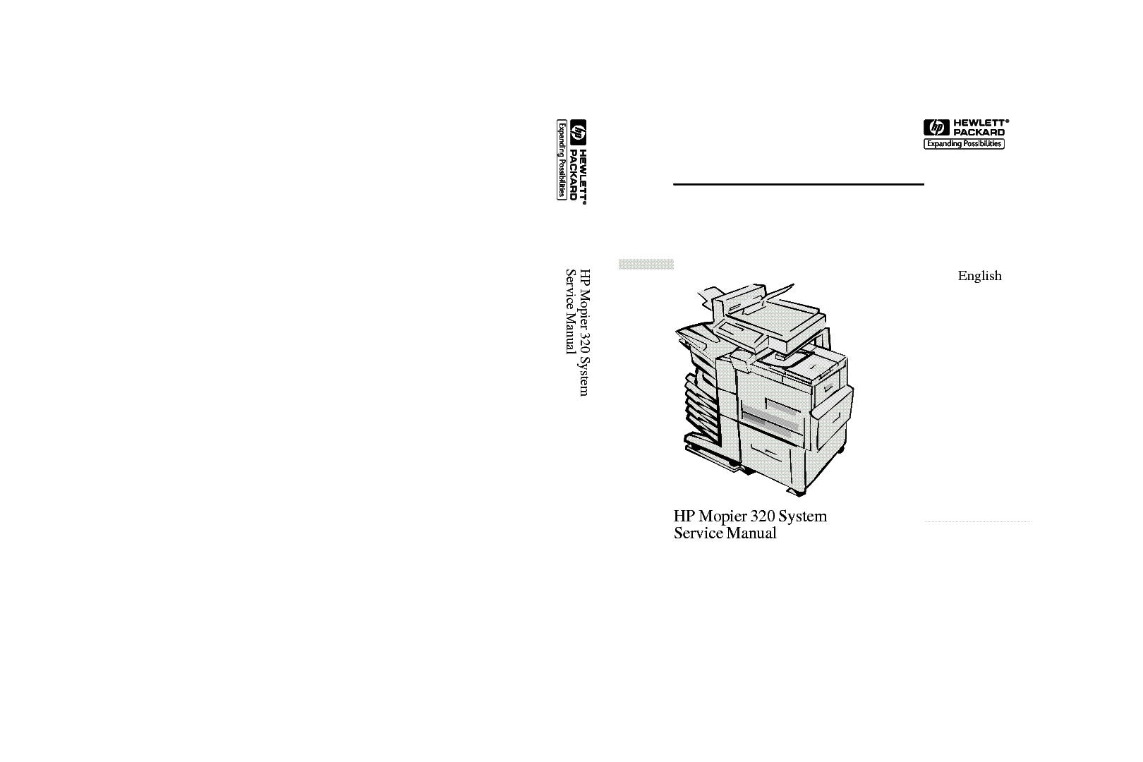HP MOPIER 320 SYSTEM Service Manual download, schematics