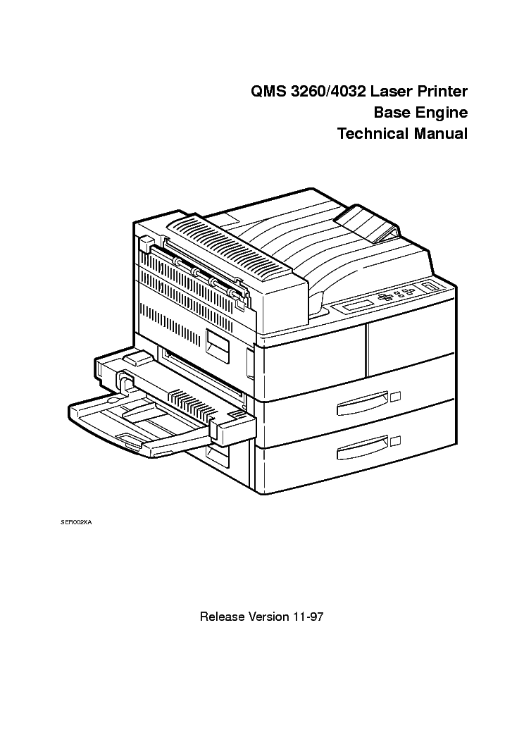 KONICA MINOLTA QMS 3260 4032 CHAP1TO10 Service Manual
