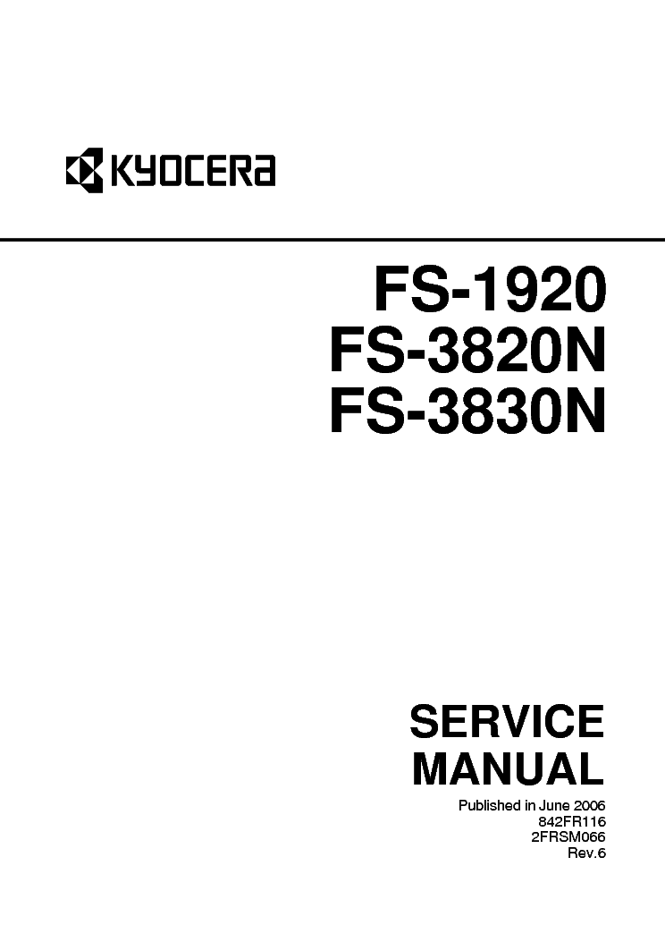 KYOCERA FS-3830N 3820N 1920 SM Service Manual download