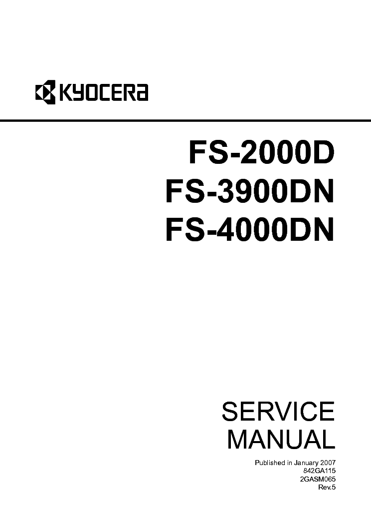 KYOCERA FS-850 PARTS MANUAL Service Manual download