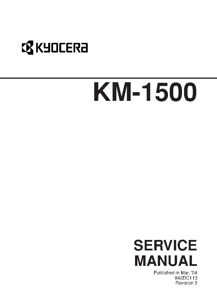 KYOCERA KM-1500 SM Service Manual download, schematics