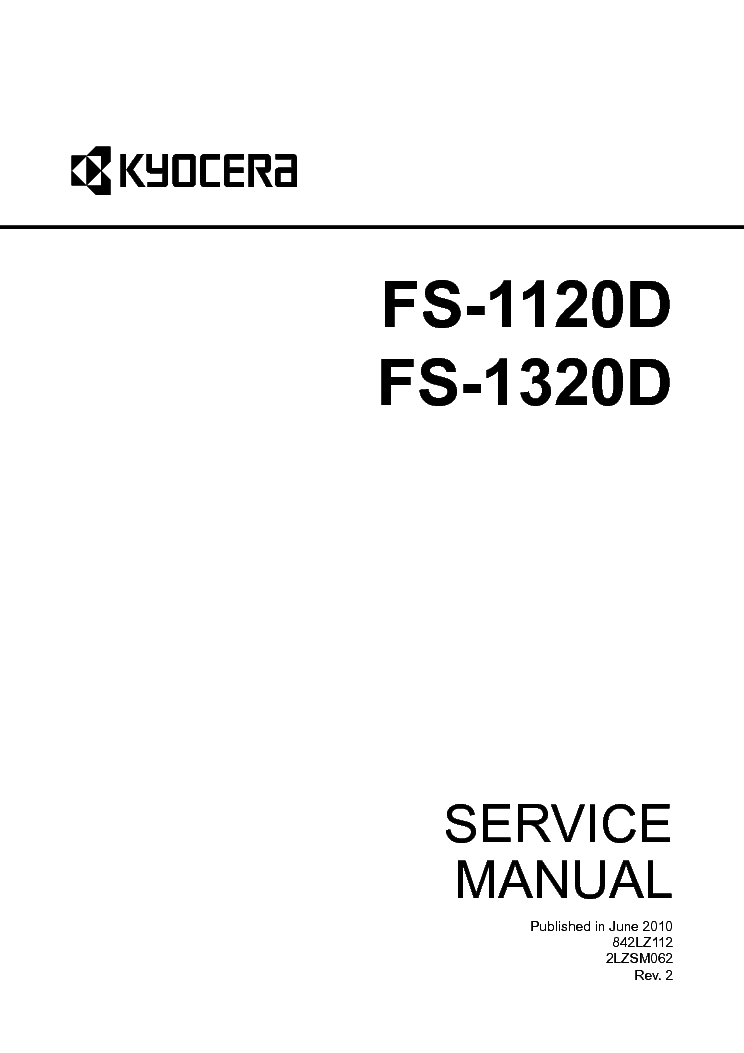 KYOCERA MITA FS-1120D Service Manual download, schematics