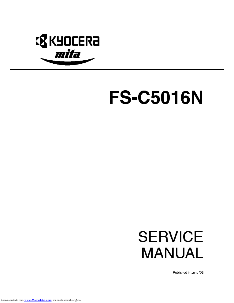 KYOCERA FS-1550 PARTS MANUAL Service Manual free download