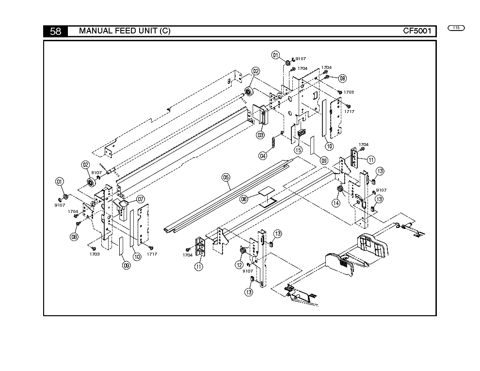 MINOLTA DI152 DI183 SM Service Manual download, schematics