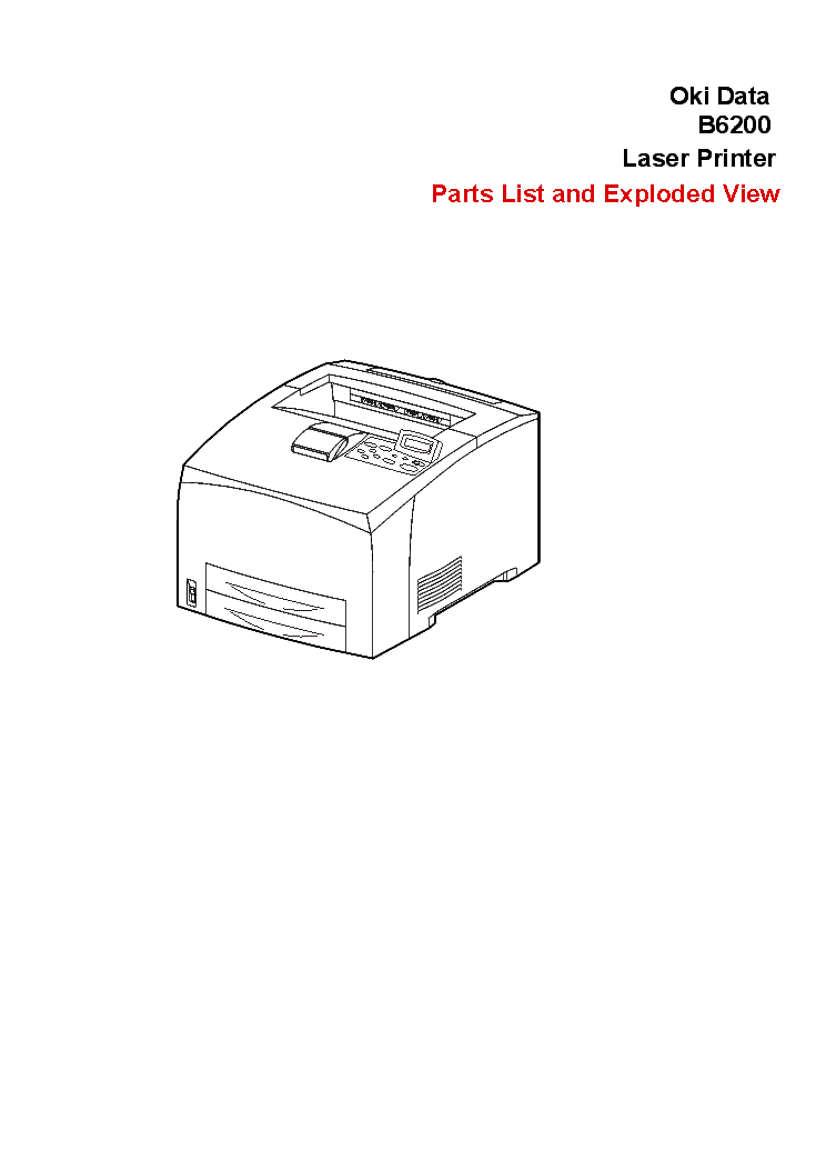 OKI-PACEMARK 4410 PRINTER GM Service Manual download