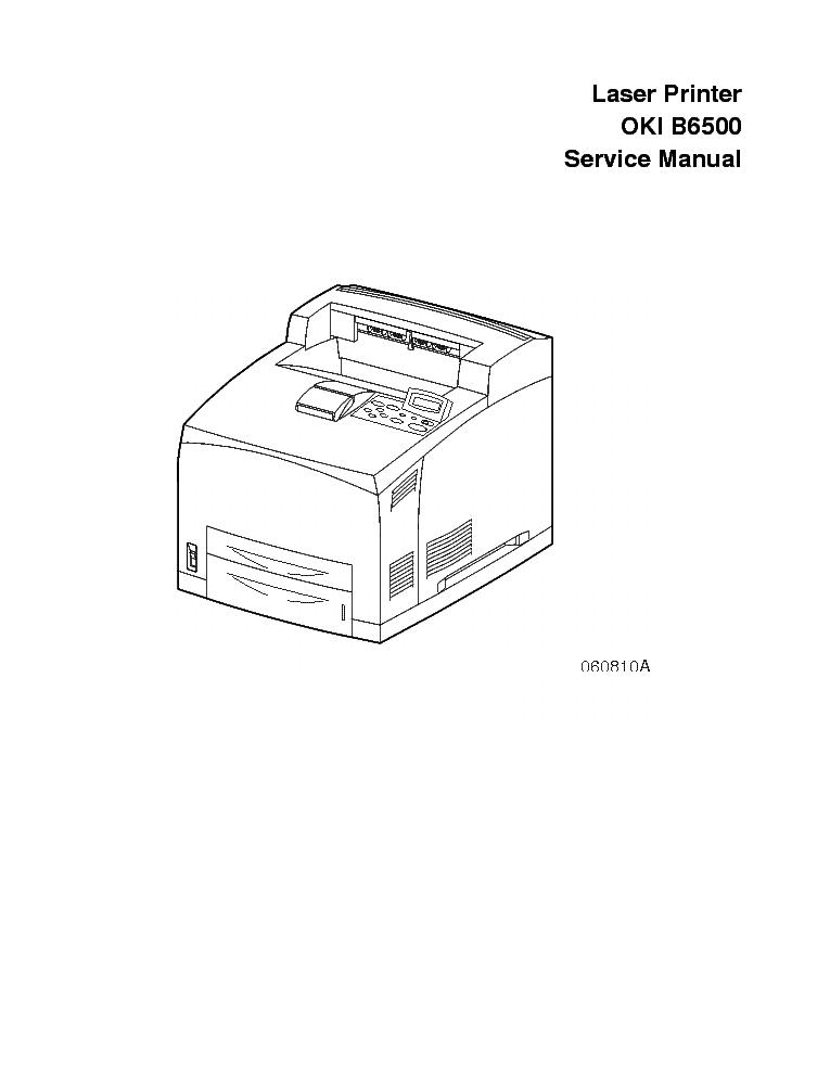 OKI B6500 LASER PRINTER SM Service Manual download