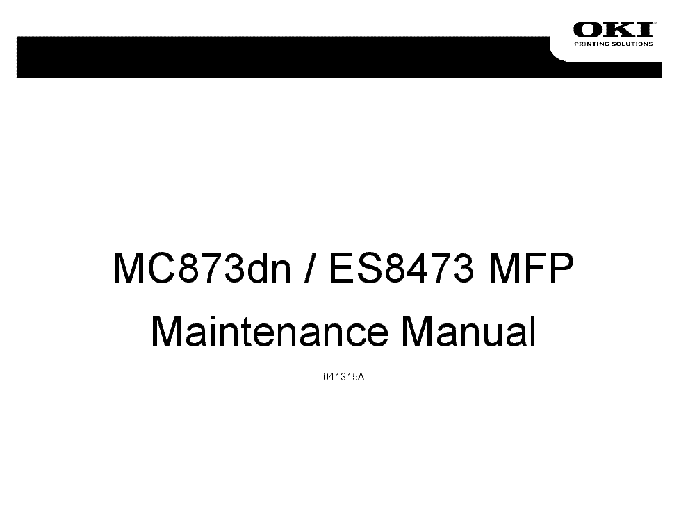 OKI CX3641 MFP PRINTING SOLUTIONS TRAINING MANUAL Service