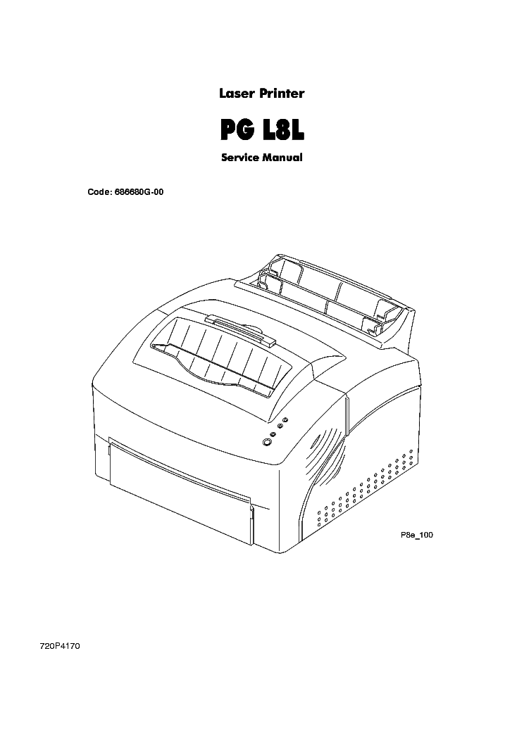 OLIVETTI PG-L8L LASER PRINTER Service Manual download