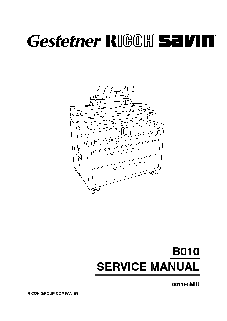 RICOH B010 SM Service Manual download, schematics, eeprom