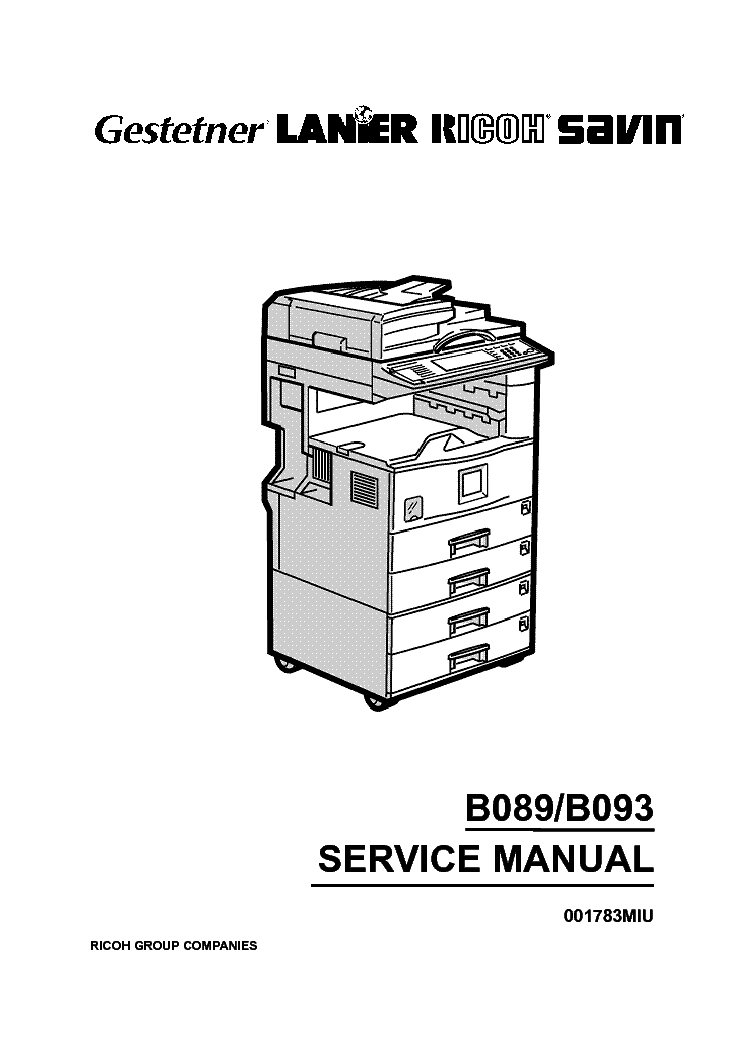 RICOH B089 B093 SM Service Manual download, schematics