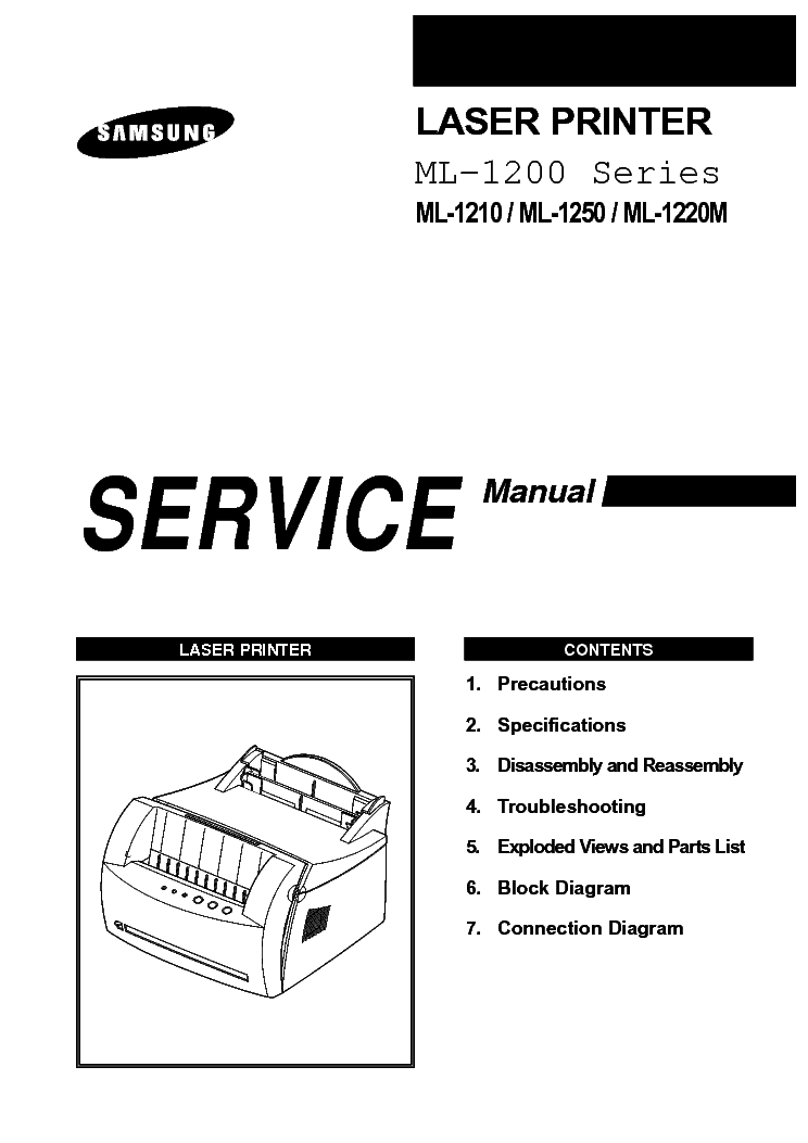 SAMSUNG ML-1210-ML-1250-ML-1220M SM Service Manual