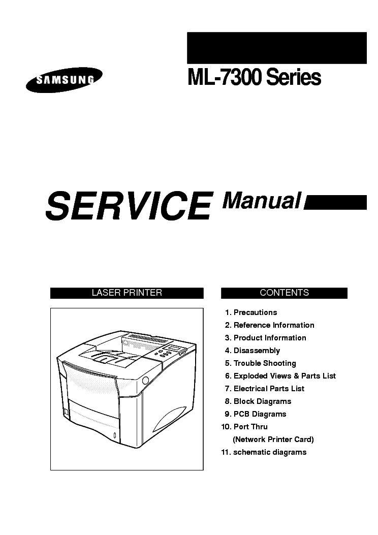 SAMSUNG ML-7300N SM Service Manual download, schematics