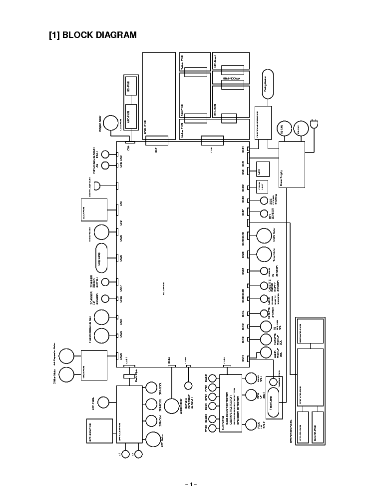 SHARP AR-162 AR-163 AR-201 AR-207 CIRCUIT DIAGRAMS Service