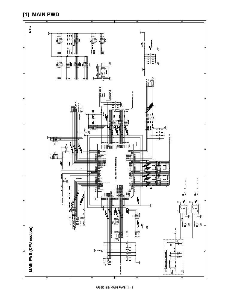 SHARP AR-5618 5620 5623 CIRCUIT DIAGRAM Service Manual