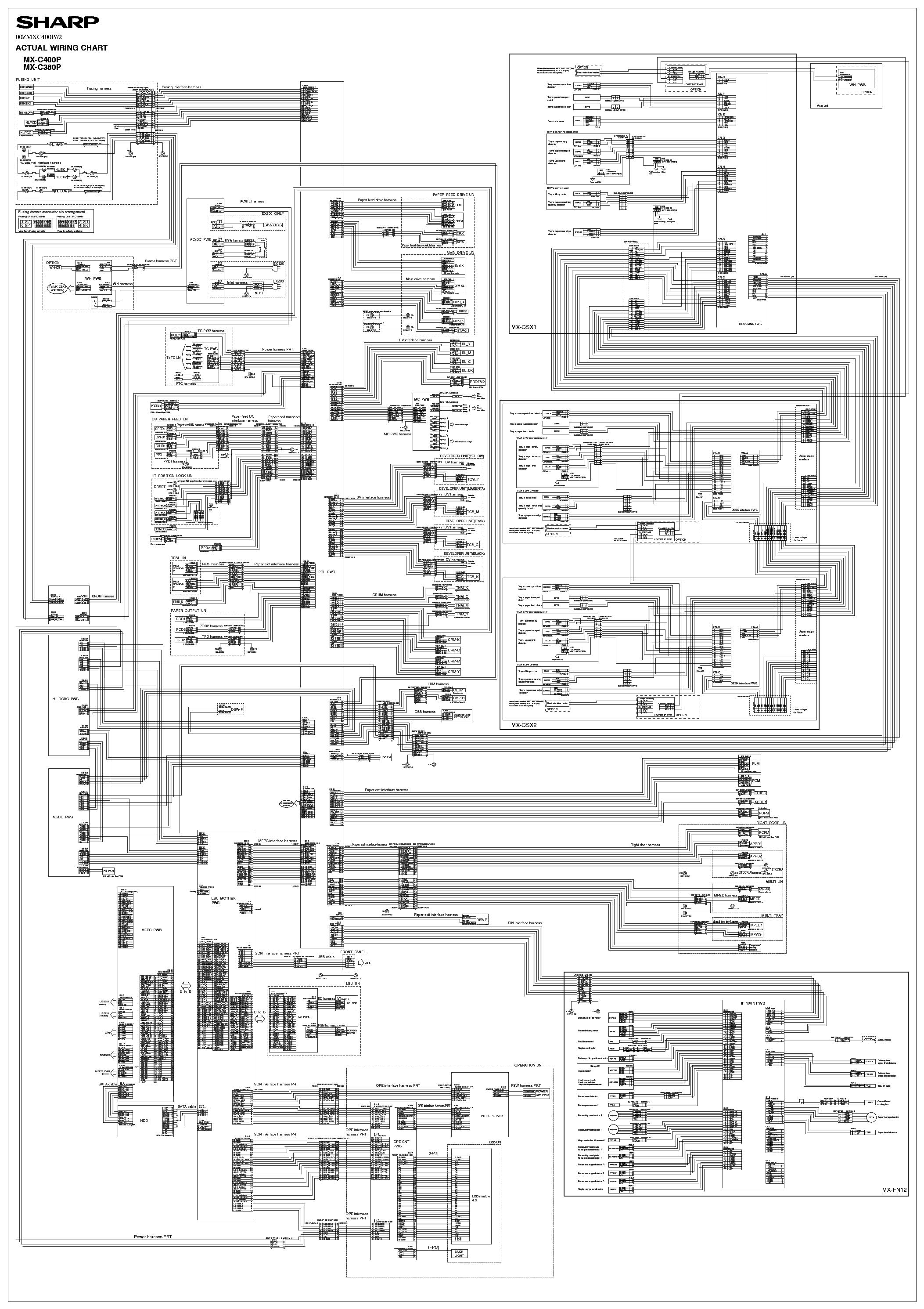 SHARP MX-C380P MX-C400P WIRING DIAGRAM Service Manual