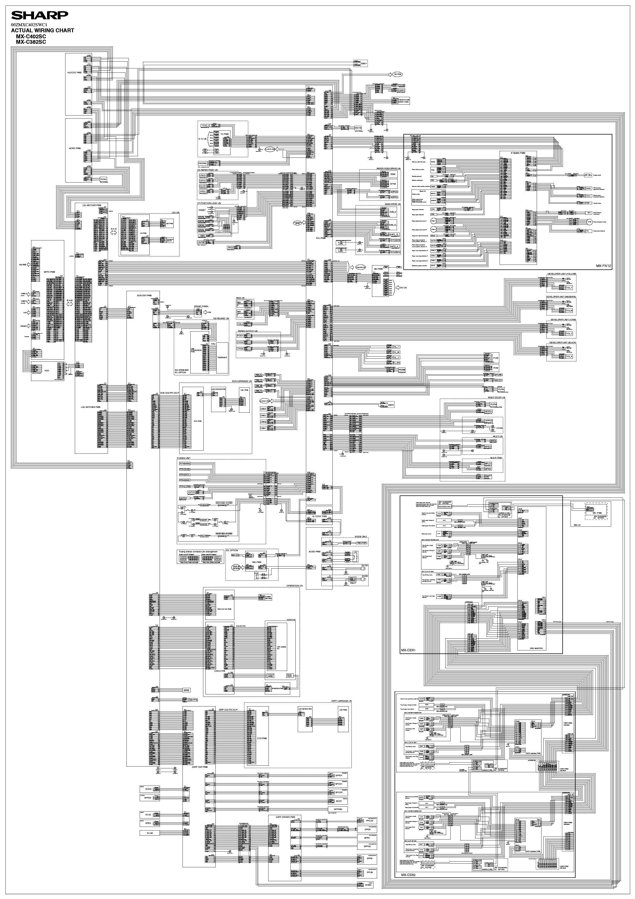 SHARP MX-C382SC MX-C402SC WIRING DIAGRAM Service Manual