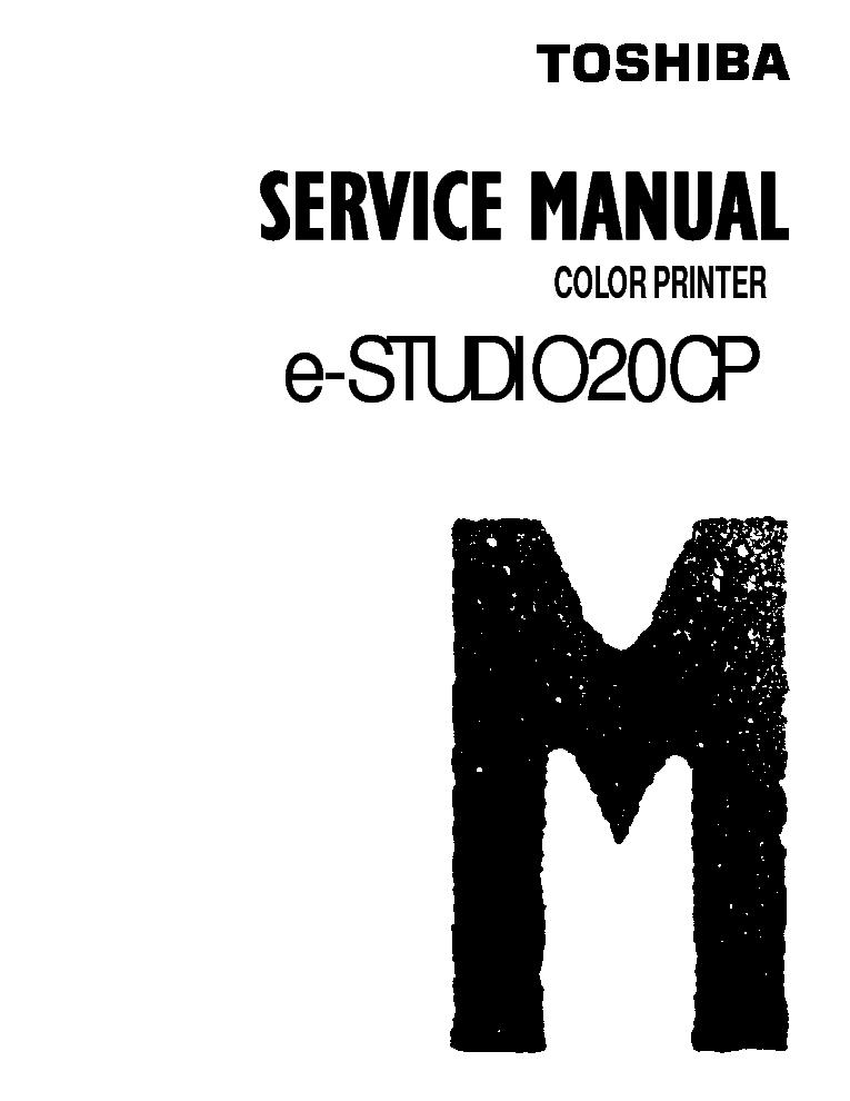 TOSHIBA E-STUDIO20CP SM Service Manual download