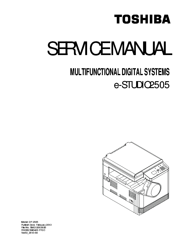 TOSHIBA E-STUDIO 2505 VER.02 Service Manual download