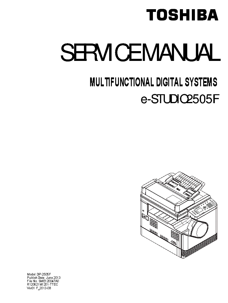 TOSHIBA E-STUDIO 2505F Service Manual download, schematics