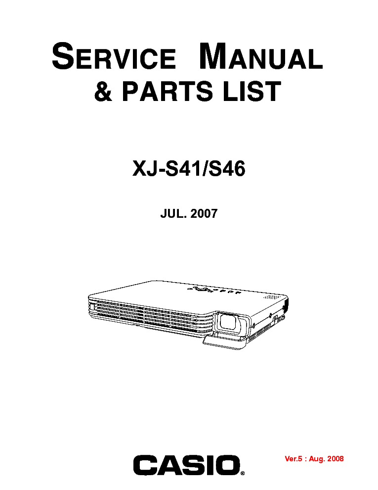 Casio Projector Xj S41bb Manual