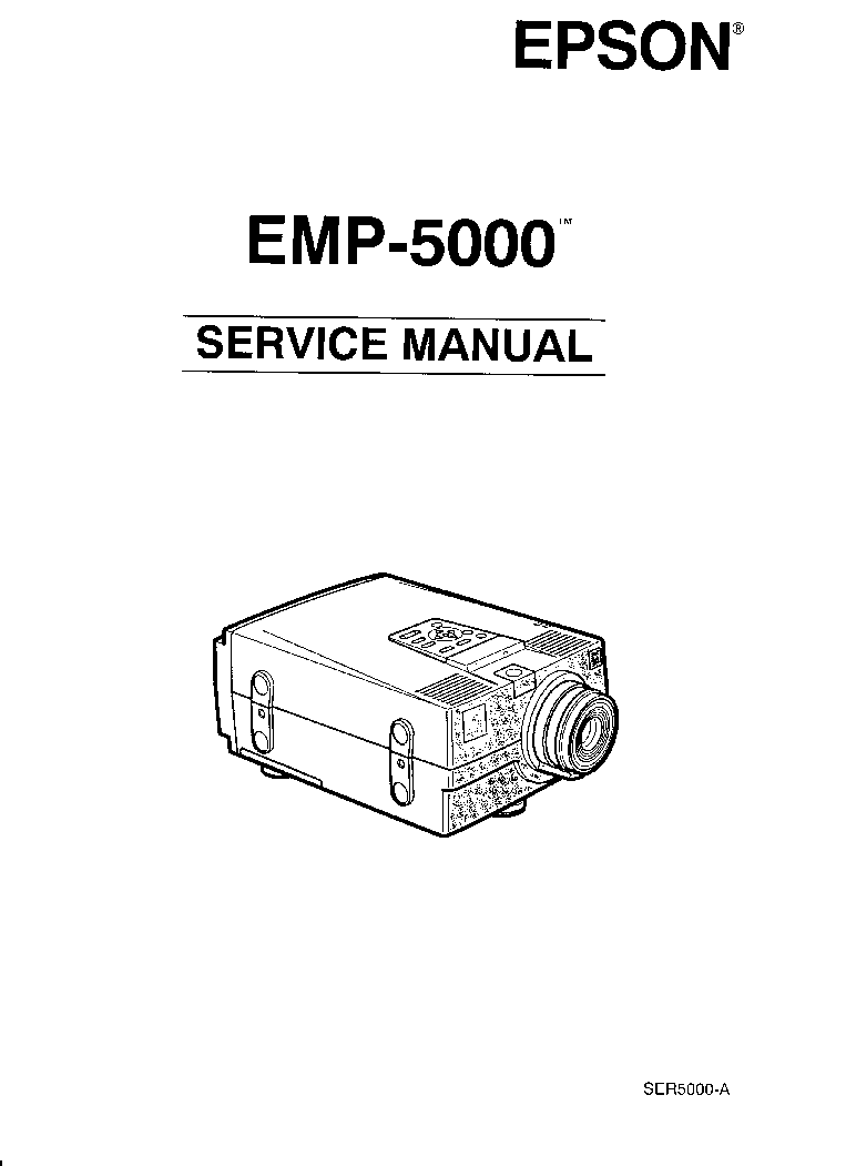 EPSON EMP-5000 Service Manual download, schematics, eeprom