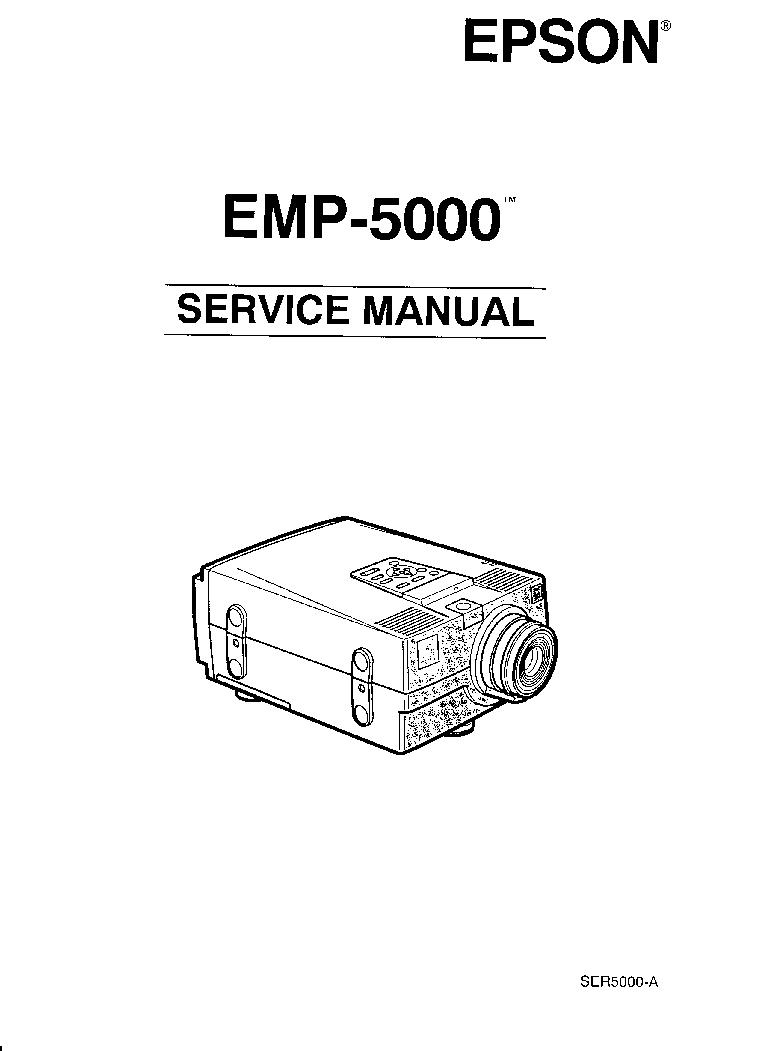 EPSON EMP-5000 Service Manual download, schematics, eeprom