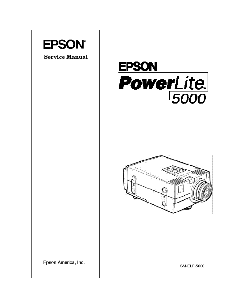 EPSON POWERLITE 5000 PROJECTOR Service Manual download