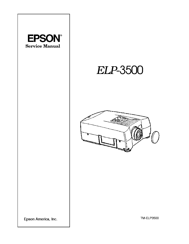EPSON PROJECTOR ELP-3500 Service Manual download