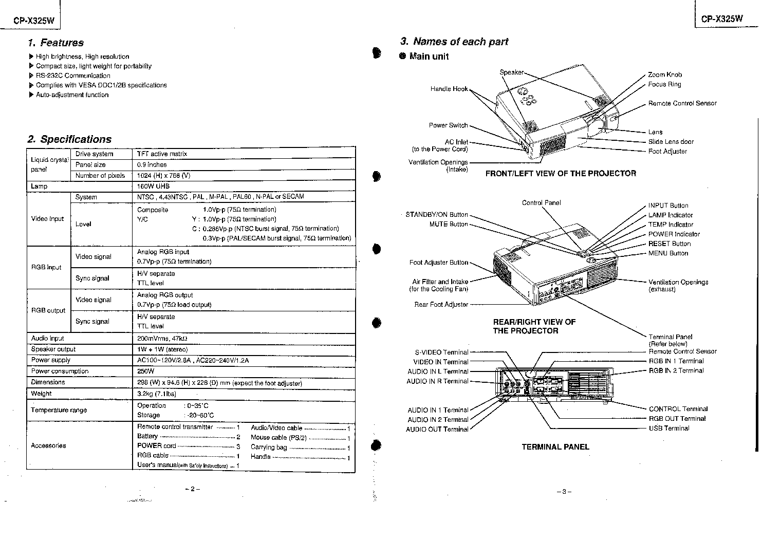HITACHI CPX325W Service Manual download, schematics