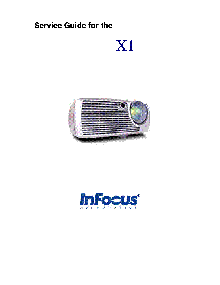 INFOCUS X1 Service Manual download, schematics, eeprom