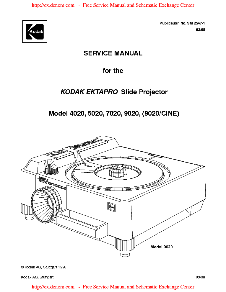KODAK-EKTAPRO-9020 Service Manual download, schematics