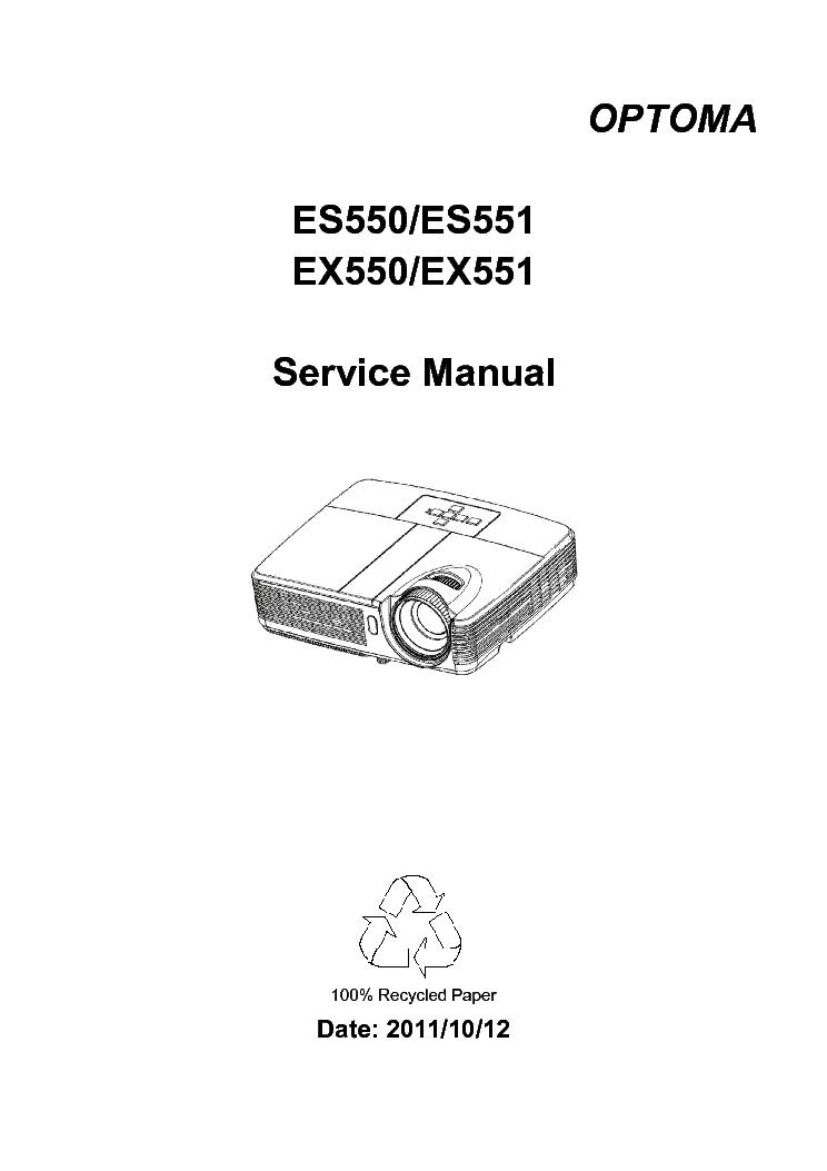 OPTOMA EX779 DP437-570 VER.01 Service Manual download